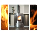 <div>Cucina con presa d'aria posteriore diretta, collegamento fumi ed intubamento camino in acciaio inox, Gemona (UD).<br /></div>