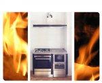 Monoblocco da 140cm con cucina e forno a legna, cappa e fornelli e forno elettrico. San Giovanni al Natisone.