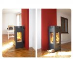 Visione panoramica e suggestiva del fuoco su tre lati. Installata a Gemona del Friuli (UD).