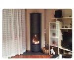 Stufa-caminetto con focolare girevole a 360°, installato a Moruzzo (UD)