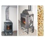 Fase di installazione inserto con canalizzazione e realizzazione canna fumaria, Barbeano (PN)